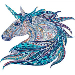 Puzzle Kirakós Játék Alion Játék Unikornis Unicorn Fa Puzzle Játék