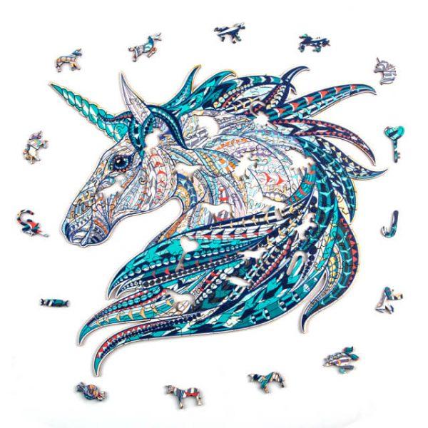 Puzzle Kirakós Játék Alion Játék Unikornis Unicorn Fa Puzzle Játék Egyszarvú
