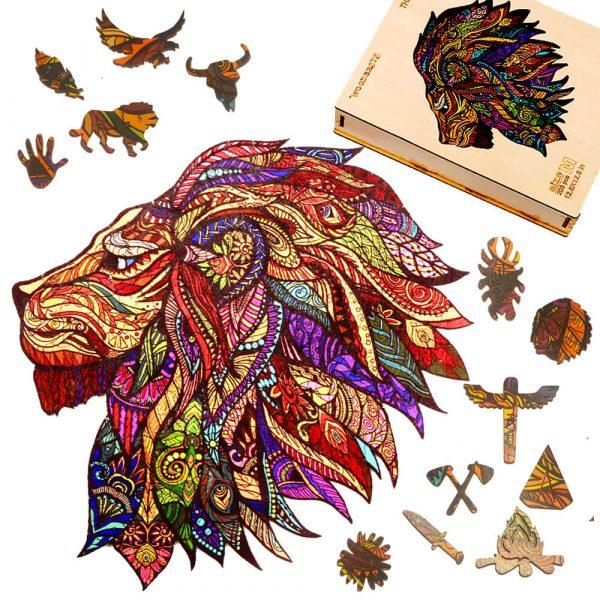 Puzzle Kirakós Játék Alion Játék Oroszlán Fa Puzzle Lion