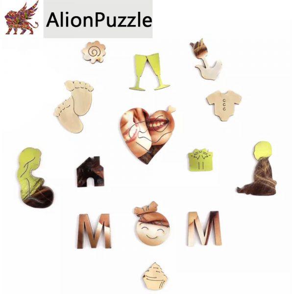 Anyák Napi Alion FaPuzzle Nyírfa Kirako Jigsaw