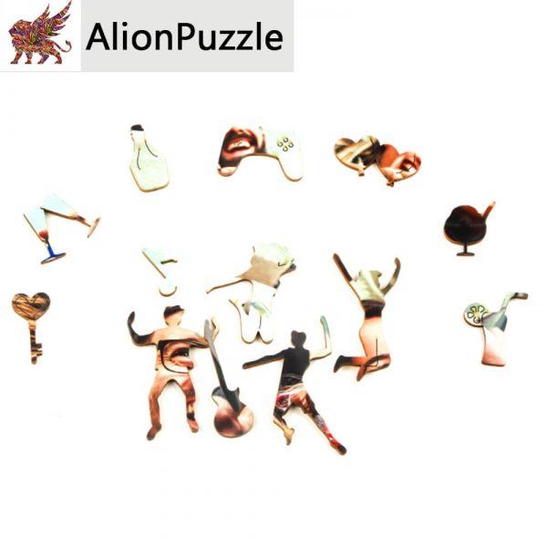 Boldog pillanatok Alion FaPuzzle Nyírfa Kirako Jigsaw