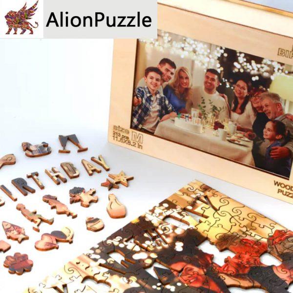 Születésnap Alion FaPuzzle Nyírfa Kirako Jigsaw