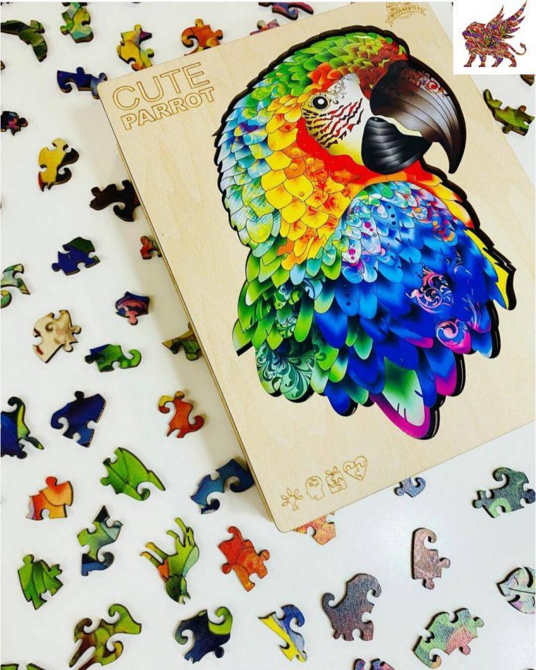 Alion-fa-puzzle-papagaj-fa-kirakó-játék-3