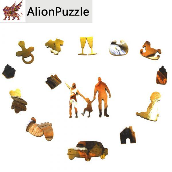 Családi pillanatok Alion FaPuzzle Nyírfa Kirako Jigsaw