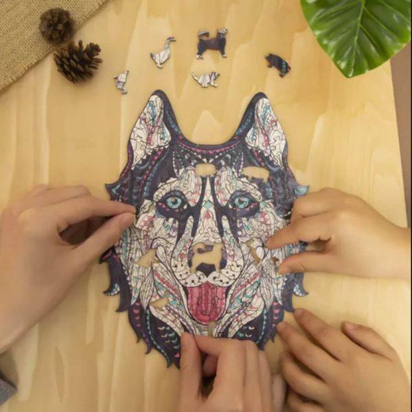 husky-kutya-fa-puzzle-alion-puzzle-kirako-jatek-ajandek