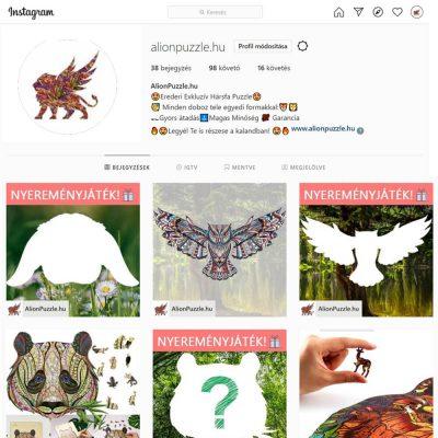 instagram Alion Puzzle Fa puzzle fa Kirakó